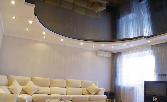 Натяжной потолок дизайн фото
